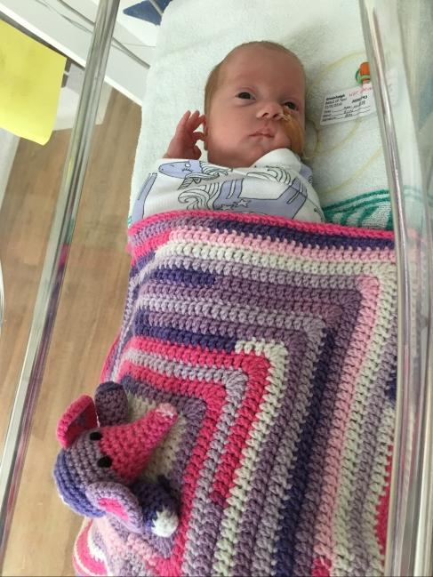 crochet blanket from a friend