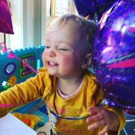 India's joy when Dahli came home from hospital..and there were balloons!