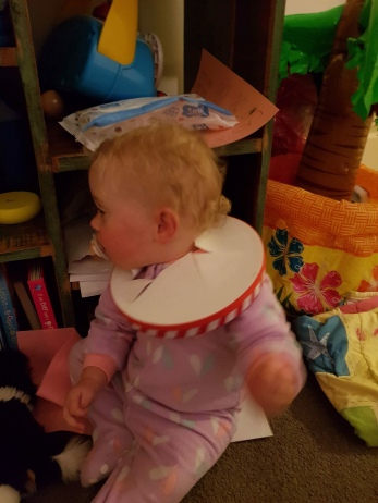 Dahli's warrior strength-smashing her head through her drum!