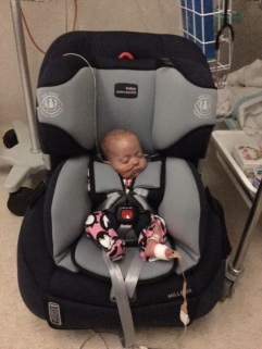86 days and passed the car seat test!